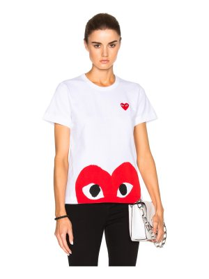 Comme Des Garcons PLAY Red Emblem Heart Tee