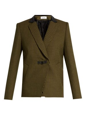 COURRÈGES Hound's-tooth notch-lapel wool jacket