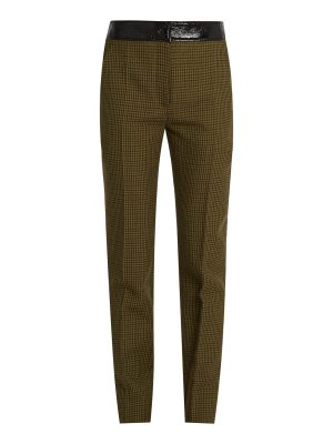 COURRÈGES Hound's-tooth slim-leg wool trousers