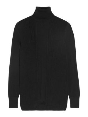 Cushnie et Ochs paneled ribbed merino wool turtleneck sweater