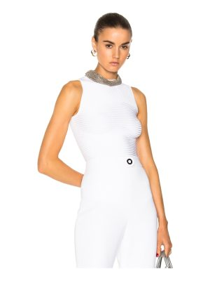 Cushnie et Ochs Sleeveless Ribbed Bodysuit
