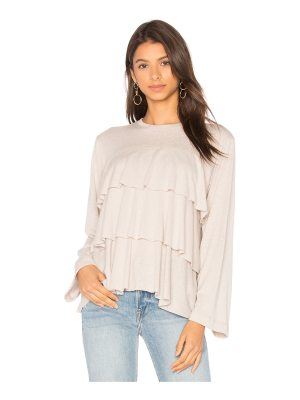 David Lerner Tiered Ruffle Top