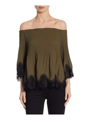 Delfi Collective samantha lace trim off-the-shoulder top