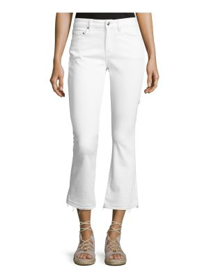 DEREK LAM 10 CROSBY Gia Mid-Rise Cropped Flare Jeans with Released Hem