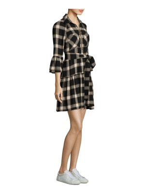 DEREK LAM 10 CROSBY plaid midi shirtdress