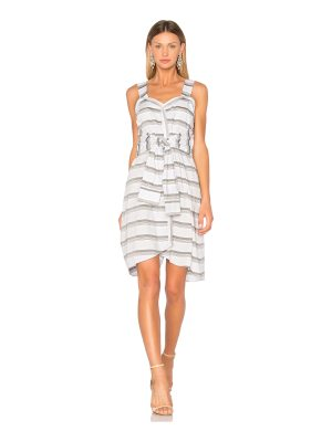DEREK LAM 10 CROSBY Tie Front Stripe Dress