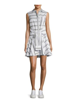 DEREK LAM 10 CROSBY tie-front striped shirtdress