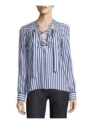 Derek Lam silk lace up blouse