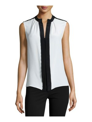 Derek Lam Sleeveless Two-Tone Blouse