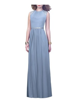 Dessy Collection embellished open back gown