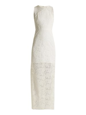 Diane von Furstenberg embroidered mesh sleeveless dress