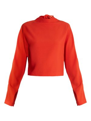 Diane von Furstenberg High Neck Cropped Top