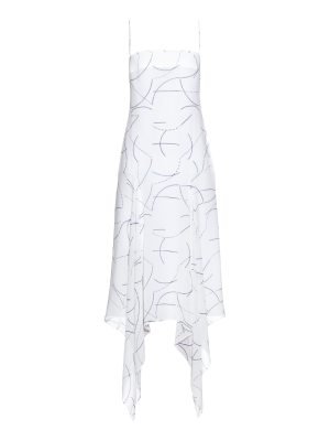 Dion Lee Line Map-print silk dress