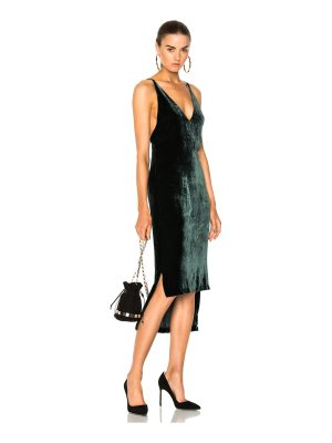 Dion Lee Silk Velvet Fine Line Cami Dress