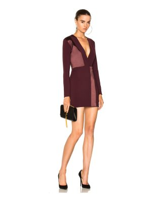 Dion Lee Spliced Silk Mini Long Sleeve Dress