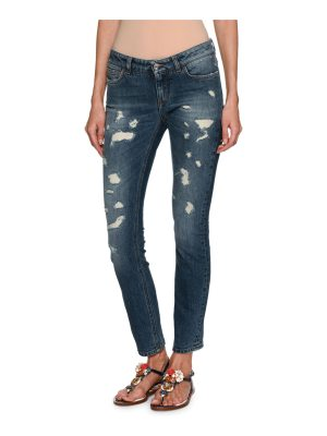Dolce & Gabbana Distressed Skinny Ankle Jeans