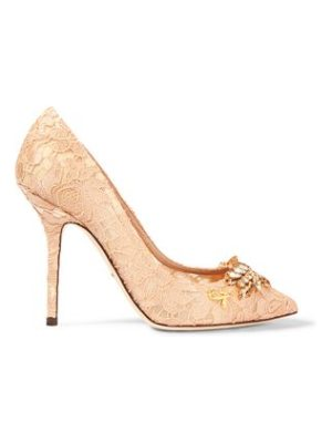 Dolce & Gabbana embellished corded lace pumps