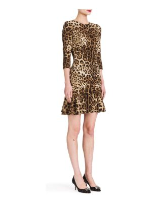 Dolce & Gabbana leopard-print dress