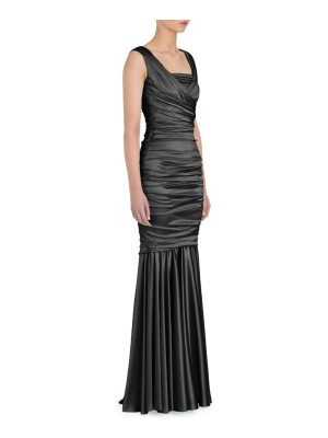 Dolce & Gabbana ruched stretch satin gown