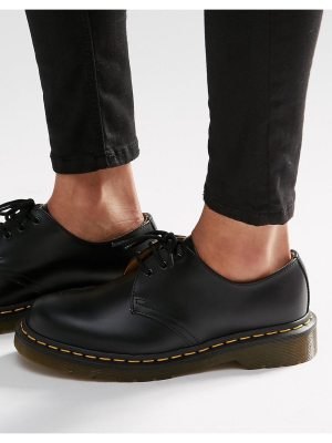 Dr Martens 1461 3-eye gibson flat shoes-black