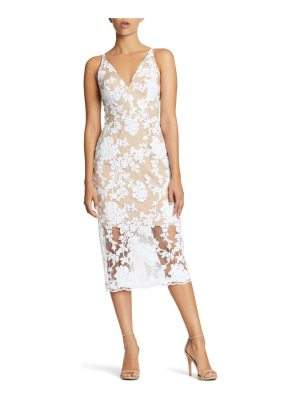 Dress the Population rebecca floral lace midi dress