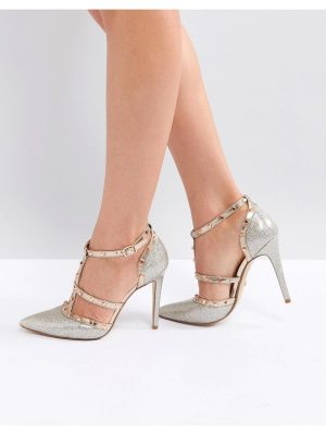 Dune London Deanerys Studded Caged Pointed Court Shoe