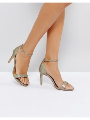 Dune London Mortimer Gold Heeled Sandals