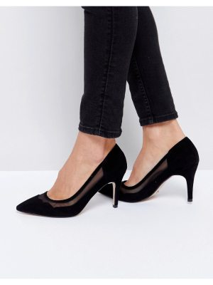 Dune London Suede Scallop Edge Heeled Shoes