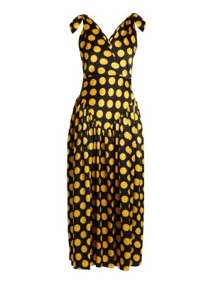 DURO OLOWU large polka dot print silk satin gown