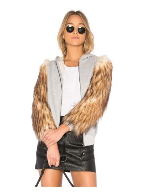 EAVES x REVOLVE Elliot Faux Fur Hoodie Jacket