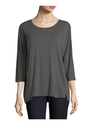 Eileen Fisher 3/4-Sleeve Lightweight Jersey Top