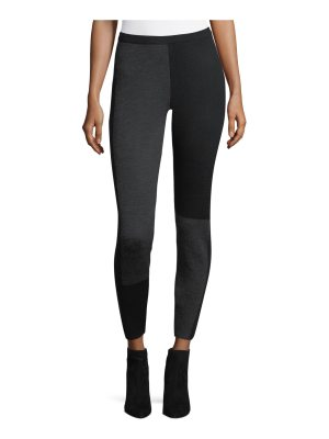 Eileen Fisher Colorblock Wool-Blend Leggings
