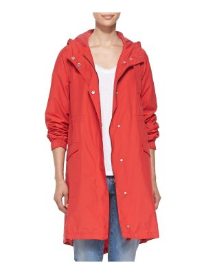 Eileen Fisher Hooded Long Anorak Jacket