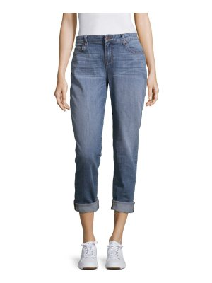Eileen Fisher whiskered stretch jeans