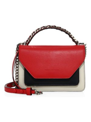 Elena Ghisellini eclipse colorblock leather shoulder bag