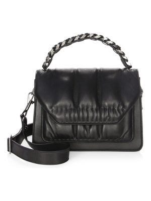 Elena Ghisellini eclipse media leather shoulder bag
