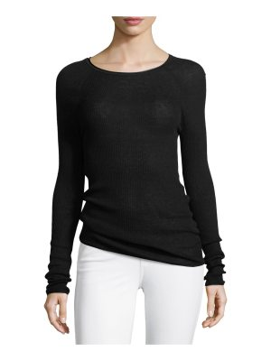 Elie Tahari Carly Lightweight Ribbed Sweater