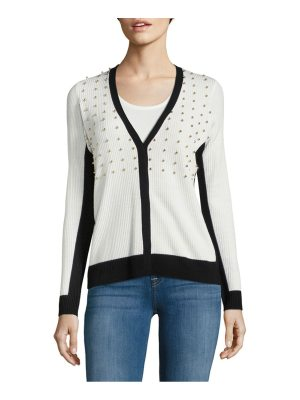 Elie Tahari Peggy Ribbed Woolen Sweater
