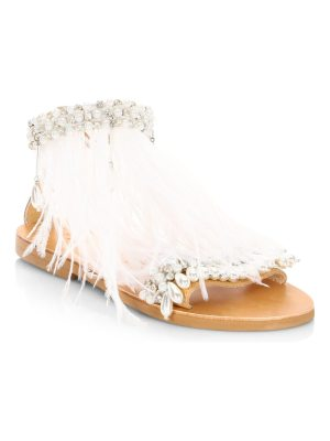 Elina Linardaki mon cherie feather sandals