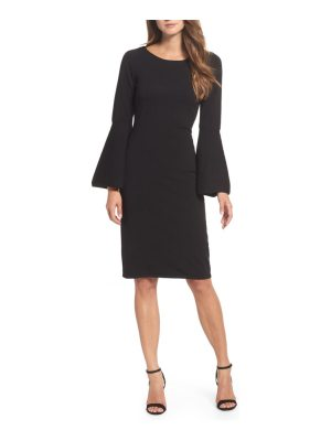 Eliza J bell sleeve sheath dress