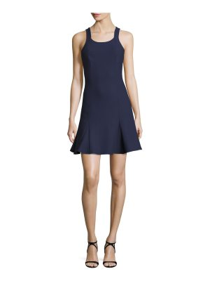 Elizabeth and James Edie Sleeveless Fit-and-Flare Ponte Mini Dress