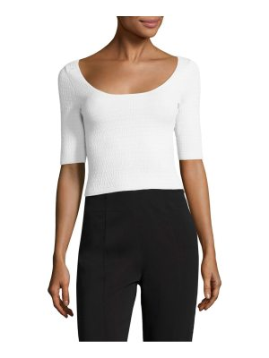 Elizabeth and James maisy textured cropped top