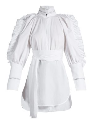 Ellery Angelface high-neck ruffle-trimmed top