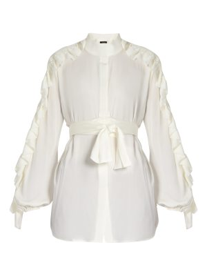 Ellery Audacity ruffled-sleeve silk-blend blouse