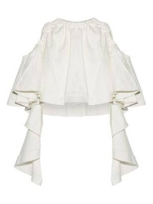 Ellery baby cropped ruffled cotton