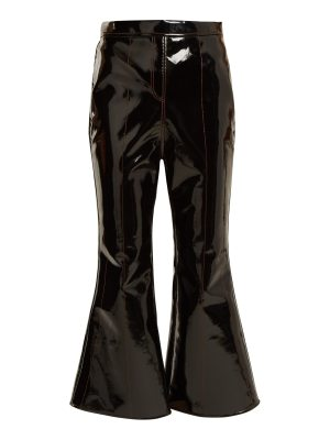 Ellery outlaw kick flare cropped patent trousers