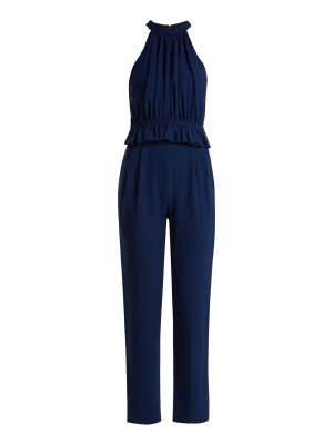 EMILIA WICKSTEAD Everette Halterneck Wool Crepe Jumpsuit