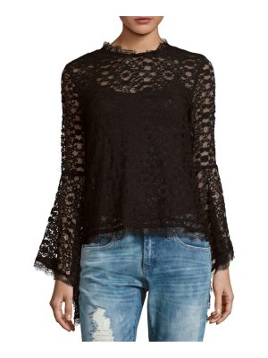 endless rose Lace Bell Sleeve Top