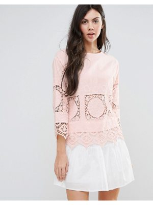 endless rose Long Sleeve Top With Lace Detail