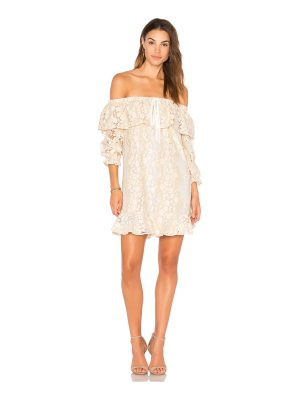 endless rose Off Shoulder Lace Dress With Tie